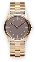 Uniform Wares C33 Quartz Watch with Grey Analogue Dial with Gold Stainless Steel Strap