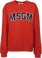 MSGM Red Logo Print Sweatshirt