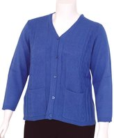 Silverts Disabled Elderly Needs Adaptive Open Back Light Weight Cardigan Sweater With Pockets - XL