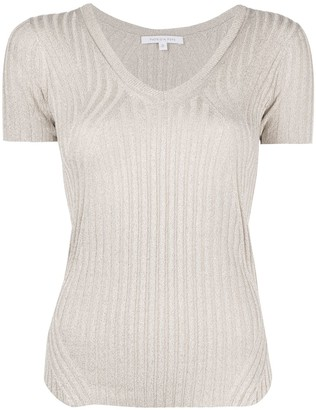 Patrizia Pepe Ribbed Knit T-Shirt