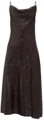 Jonathan Simkhai Sequin-embellished Cowl-neck Midi Dress - Black