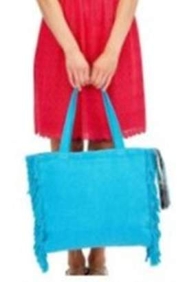 Twos Company Two's Company Terry Cloth Tote With Fringe Tassel