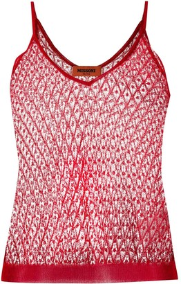 Missoni Sleeveless Lace Top