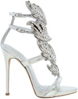 Giuseppe Zanotti Design 120mm Leaf Swarovski & Leather Sandals