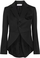 Comme des Garcons Velvet-trimmed Wool-gabardine Blazer - Black