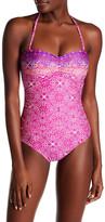 La Blanca Swimwear Tile Bandeau One-Piece Swimsuit