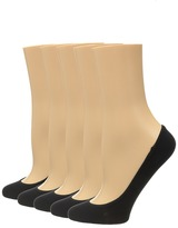 Steve Madden 5-Pack Microfiber Solid Footie Women's No Show Socks Shoes