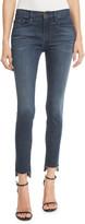 Frame Le Skinny De Jeanne Raw Stagger-Hem Skinny Jeans
