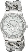 Akribos XXIV Women's AK558SS Quartz Multi-Function Crystal Accented Twist Chain Watch