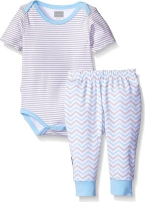 Kushies Boys' Baby Short Sleeve Bodysuit and Pant Set