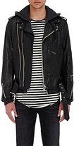 R 13 Men's Layered Moto Jacket-BLACK