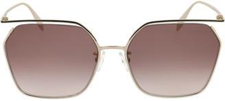 Alexander McQueen Eyewear Hexagonal Frame Sunglasses