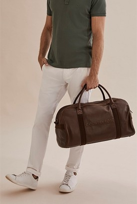 Country Road Leather Logo Tote