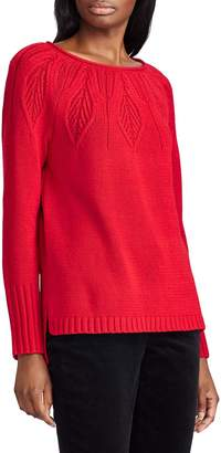Chaps Cable-Knit Cotton-Blend Sweater