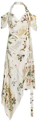 Monse Botanical Halter Dress