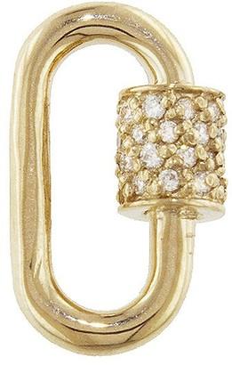 Marla Aaron Baby Stoned Diamond Lock - Yellow Gold