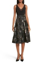 Ted Baker Women's Freay Metallic Floral Fit & Flare Dress