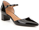 Calvin Klein Georgie Patent Leather Bock Heel Mary Jane Dress Pumps