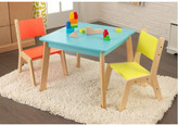 Kid Kraft Highlighter Kids 3 Piece Square Table and Chair Set