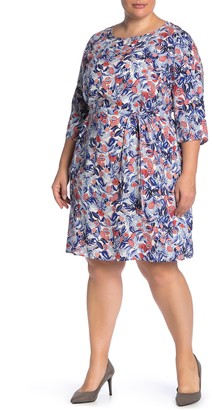 Junarose Jrcanta Keenan Patterned Dress (Plus Size)
