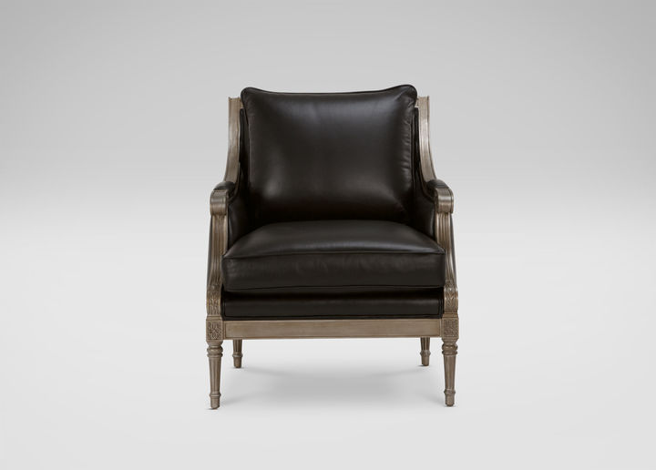Ethan Allen Fairfax Leather Chair