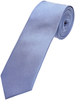 Oxford Silk Tie Pinstripes Wavy Blu/Wht X