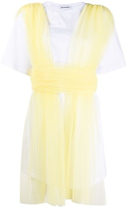 BROGNANO Sheer Paneled Dress