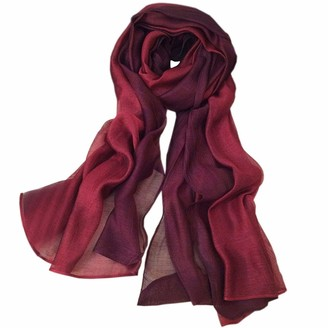 SNUG STAR Cotton Silk Scarf Elegant Soft Wraps Color Shade Scarves for Women (Dark green)