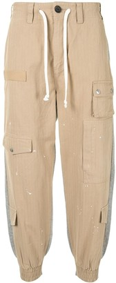 Five Cm Deconstructed Cropped Cargo Trousers