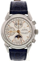 Eterna Moonphase 8515.41 Stainless Steel & Leather 39mm Watch