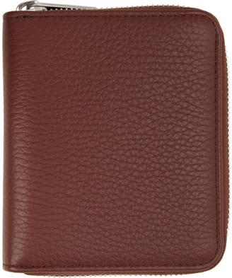 Maison Margiela Brown Leather Zip-Around Wallet