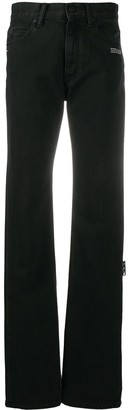 Off-White Mid-Rise Straight-Leg Jeans