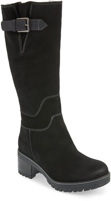 Bos. & Co. Martial Wool Lined Waterproof Suede Tall Boot