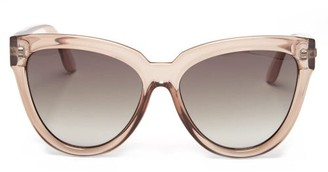 Le Specs Liar Lair Oversized Cat-eye Sunglasses - Nude