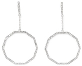 Vince Camuto Silvertone Geo Drop Earrings