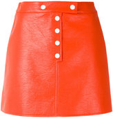 Courreges buttoned mini-skirt - women - Cotton/Polyurethane/Acetate/Cupro - 36