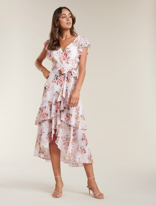 Forever New Tiffany Wrap Midi Dress - Roses of Versailles - 10