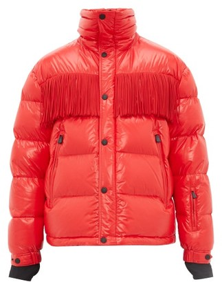 3 Moncler Grenoble - Fringed Quilted Down Jacket - Red