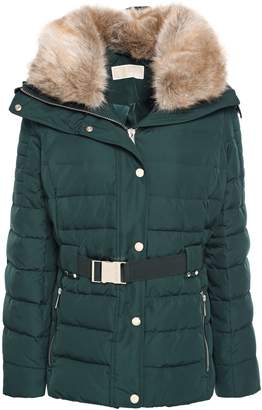 MICHAEL Michael Kors Faux Fur-trimmed Quilted Shell Hooded Down Jacket