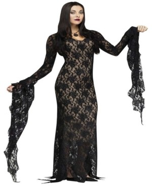 BuySeasons Buy Seasons Women's Lace Morticia Dress Costume