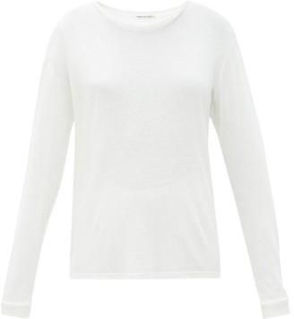 Frances De Lourdes - Marlon Round Neck Cashmere And Silk Blend T Shirt - Womens - Ivory
