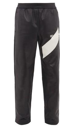 Helmut Lang Logo-embroidered Coated Jersey Track Pants - Mens - Black