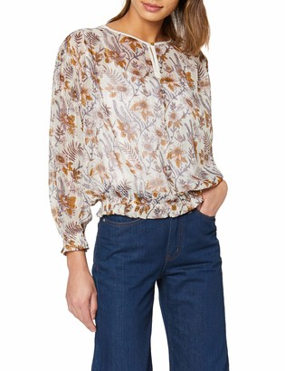 Scotch & Soda Maison Women's Drapey Top in Floral Prints with Elastic Detailing Kniited Tank