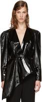 Lanvin Black Patent Leather Jacket