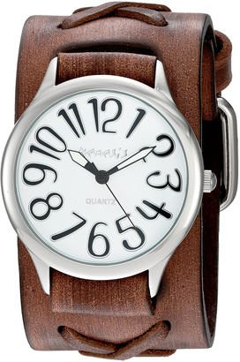 Nemesis Women's 'Always Summer Series' Quartz Stainless Steel and Leather Watch Color:Brown (Model: DSFX108W)