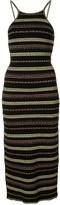 Alice McCall striped cut-out midi dress