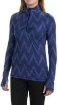 Eddie Bauer Chevron Shirt - Zip Neck, Long Sleeve (For Women)