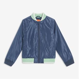 Joe Fresh Kid Boys' Bomber Jacket, Light Navy (Size M)