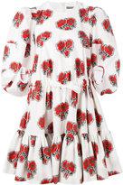 Alexander McQueen floral ruffled dress - women - Cotton - 40