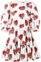 Alexander McQueen floral ruffled dress - women - Cotton - 42